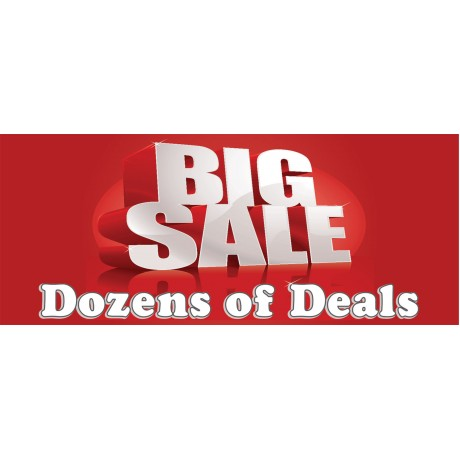 Big Sale Dozens Of Deals 2.5' x 6' Vinyl Business Banner