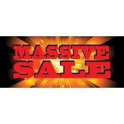 Massive Sale 2.5' x 6' Vinyl Business Banner