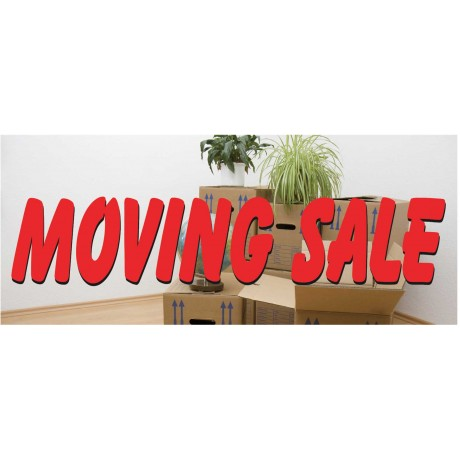 Moving Sale 2.5' x 6' Vinyl Business Banner