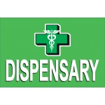 Dispensary Green 2' x 3' Vinyl Banner