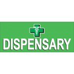 Dispensary Green 2.5' x 6' Vinyl Banner