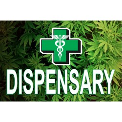 Dispensary Leaves 2' x 3' Vinyl Banner