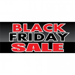 Black Friday Sale 2.5' x 6' Vinyl Business Banner