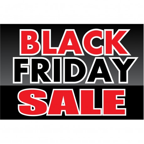 Black Friday Sale 2' x 3' Vinyl Business Banner