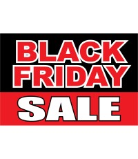 Black Friday Sale Black Red 2' x 3' Vinyl Business Banner