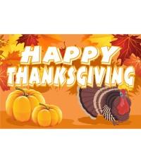 Happy Thanksgiving 2' x 3' Vinyl Banner