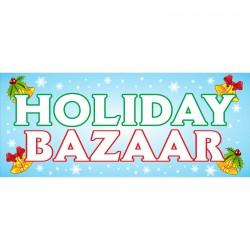 Holiday Bazaar 2.5' x 6' Vinyl Banner