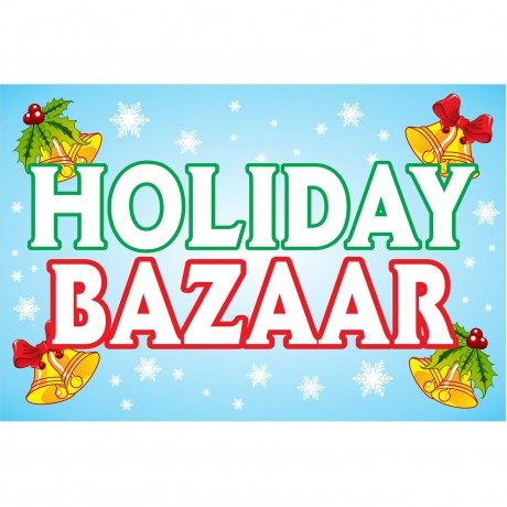 Holiday Bazaar 2' x 3' Vinyl Banner