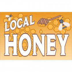 Local Honey 2' x 3' Vinyl Banner