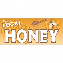 Local Honey 2.5' x 6' Vinyl Banner