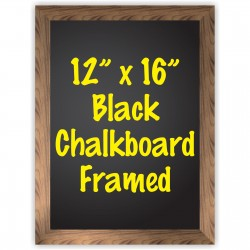 """12"""" x 16"""" Wood Framed Black Chalkboard Sign"""