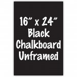 "16"" x 24"" Unframed Black Chalkboard Sign"