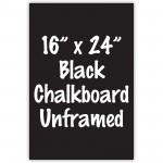 """16"""" x 24"""" Unframed Black Chalkboard Sign"""