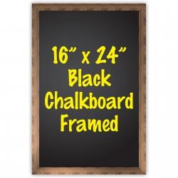 """16"""" x 24"""" Wood Framed Black Chalkboard Sign"""