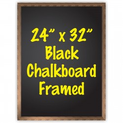 "24"" x 32"" Wood Framed Black Chalkboard Sign"