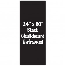 "24"" x 60"" Unframed Black Chalkboard Sign"