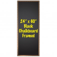 "24"" x 60"" Wood Framed Black Chalkboard Sign"
