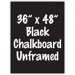 """36"""" x 48"""" Unframed Black Chalkboard Sign"""