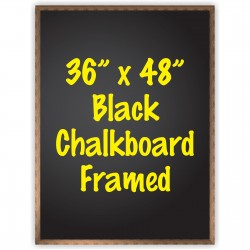 "36"" x 48"" Wood Framed Black Chalkboard Sign"