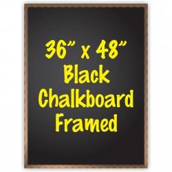 """36"""" x 48"""" Wood Framed Black Chalkboard Sign"""