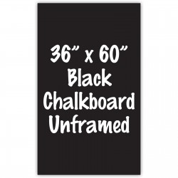 "36"" x 60"" Unframed Black Chalkboard Sign"