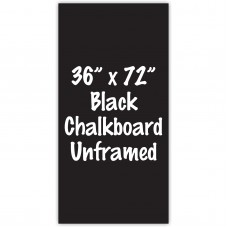 "36"" x 72"" Unframed Black Chalkboard Sign"
