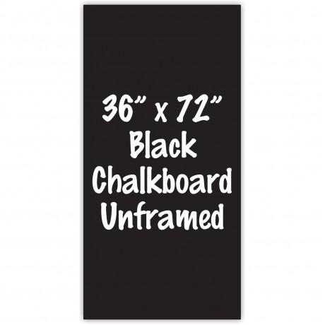 """36"""" x 72"""" Unframed Black Chalkboard Sign"""