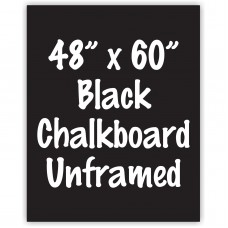 "48"" x 60"" Unframed Black Chalkboard Sign"