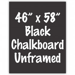 "46"" x 58"" Unframed Black Chalkboard Sign"