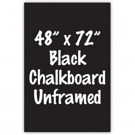 """48"""" x 72"""" Unframed Black Chalkboard Sign"""