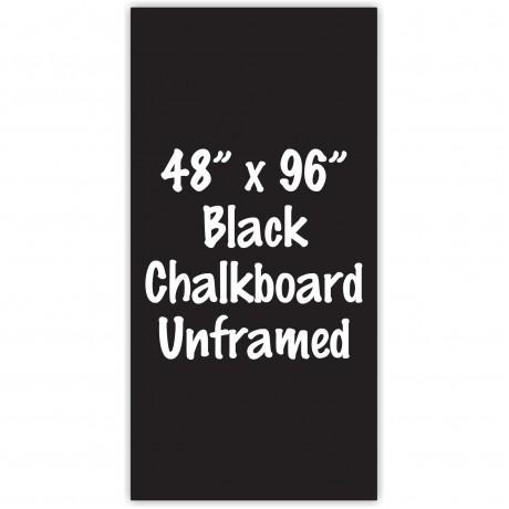 """48"""" x 96"""" Unframed Black Chalkboard Sign"""