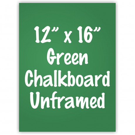 "12"" x 16"" Unframed Green Chalkboard Sign"