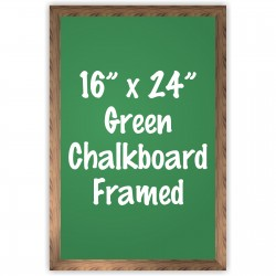 "16"" x 24"" Wood Framed Green Chalkboard Sign"