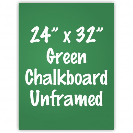 "24"" x 32"" Unframed Green Chalkboard Sign"