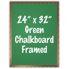 "24"" x 32"" Wood Framed Green Chalkboard Sign"