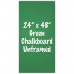 """24"""" x 48"""" Unframed Green Chalkboard Sign"""