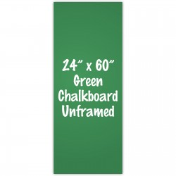 "24"" x 60"" Unframed Green Chalkboard Sign"
