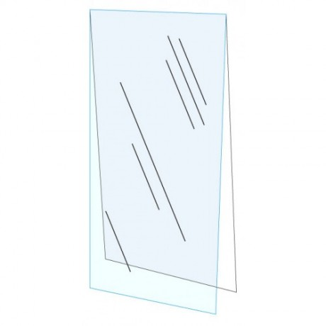 "18"" x 24"" Clear Acrylic Plexi Shield with Backer Board"