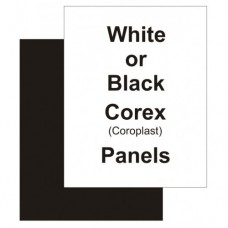 "18"" x 24"" Correx Black Replacement Panel"