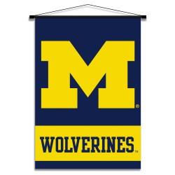 Michigan Wolverines Indoor Scroll Banner