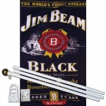 Jim Beam Liquor 3' x 5' Polyester Flag, Pole and Mount