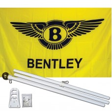 Bentley 3' x 5' Polyester Flag, Pole and Mount