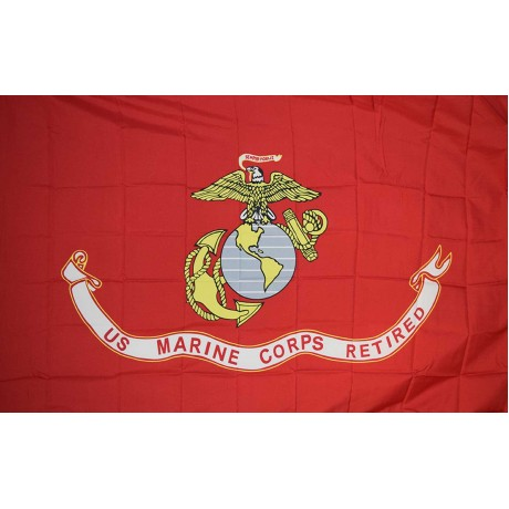 US Marine Corps Retired 3'x 5' Polyester Flag