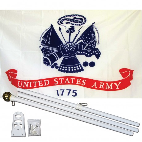 Army Classic 3' x 5' Polyester Flag, Pole and Mount