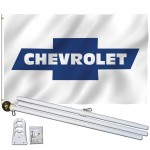 Chevrolet Bowtie 3' x 5' Polyester Flag, Pole and Mount