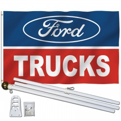 Ford Trucks 3' x 5' Polyester Flag, Pole and Mount