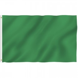 Solid Green 3' x 5' Polyester Flag