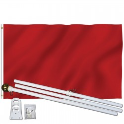 Solid Burgundy 3' x 5' Polyester Flag, Pole and Mount