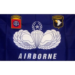 Army 82nd and 101st Airborne 3'x 5' Economy Flag
