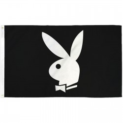 Playboy Bunny Black 3' x 5' Polyester Flag